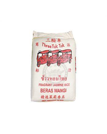 25kg Three Tuk Tuk Fragrant Jasmine Rice  三輪車茉莉香米
